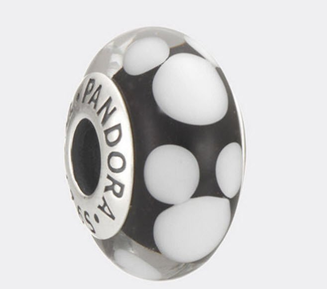 Authentic Pandora Sterling Silver Disney Classic Mickey Murano Glass Bead 791633