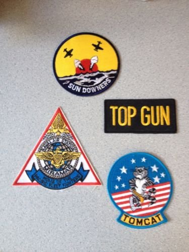 Lot of US Navy Patches - Top Gun, NAS Miramar, VF-111, F-14 Tomcat