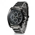 Men's Business Style Black Alloy Quartz Wrist Watch - GREAT DISCOUNT