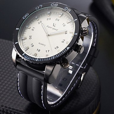Men's Wrist Watch Military Steel Case Silicone Strap - **DISCOUNT**