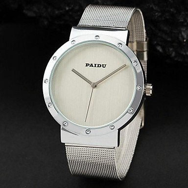 Men's Watch Dress Watch Round Simple Style Woven Metal Band