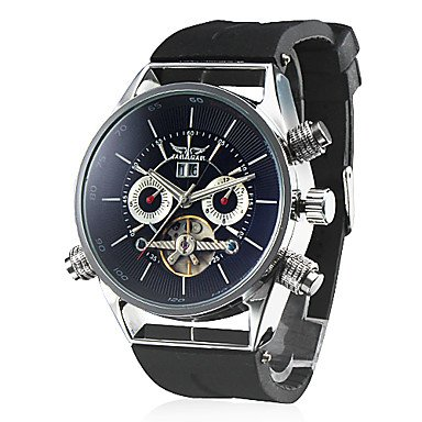Men's Watch Auto-Mechanical Tourbillon Skeleton Silicone Strap - DISCOUNT