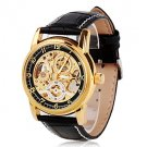 ** Men's Watch Auto-Mechanical Watch Gold Hollow Engraving Elegant Band **