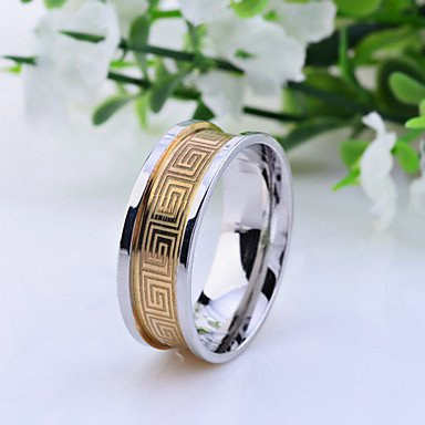 ** Men's Geometric Stainless Steel Ring **