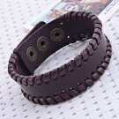** Classic Men's Simple Leather Braided Bracelet **