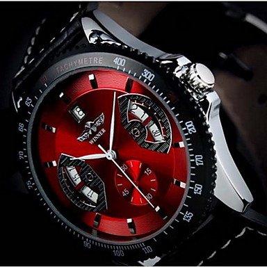 ** Men's Calendar Function Auto-Mechanical Steel Round Dial Analog Wrist Watch