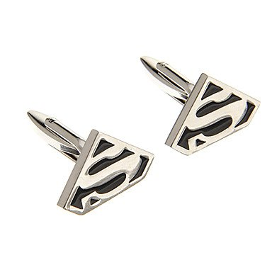 Fashion S Symbol Shape Silver Alloy Cufflinks - SPECIAL PRICE