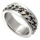** Men's Metal Chains Titanium Steel Ring **