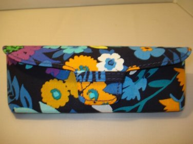 AUTH NEW VERA BRADLEY EYEGLASSES SUNGLASSES  HARD CASE MIDNIGHT BLUES # 14