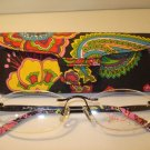 AUTH NEW VERA BRADLEY EYEGLASSES 3047 RIMLESS SYMPHONY IN HUE  w/ CASE