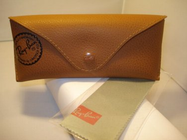 NEW RAYBAN SUNGLASSES CASE BROWN W/ CLOTH