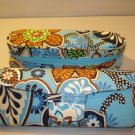 2 AUTH NEW VERA BRADLEY EYEGLASSES SUNGLASSES CASES BALI BLUE # 3