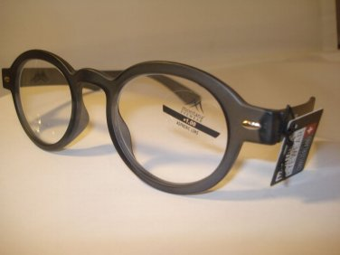 AUTH MONTANA VINTAGE DESIGNER PREPPY ROUND READING GLASSES READERS GREY NEW 1.50