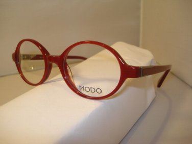 AUTH NEW MODO EYEGLASSES 6007 RED PLASTIC  w/CASE