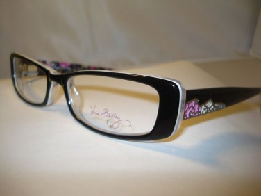 AUTH NEW VERA BRADLEY EYEGLASSES SHELBY FLORAL NIGHTINGALE (BLK) w/ CASE