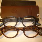 2 PAIR AUTH MONTANA VINTAGE ROUND READING GLASSES READERS BLACK & TORTOISE 2.00