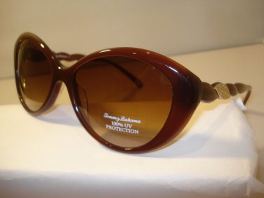AUTH NEW TOMMY BAHAMA LADIES SUNGLASSES NAUTI GIRL 7039 BROWN PLASTIC w CASE