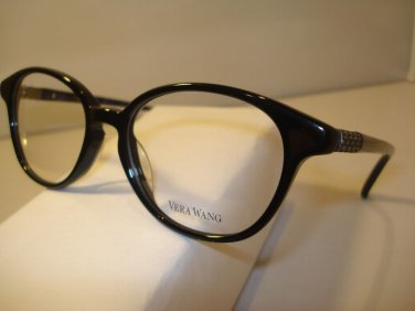 AUTH NEW VERA WANG  EYEGLASSES 315 BLACK TRENDY LADIES PLASTIC