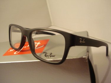 NEW AUTHENTIC RAYBAN EYEGLASSES 5268 BLACK 5119 SIZE 50