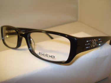AUTH BEBE WOMENS EYEGLASSES 5031 CHAMPAGNE TOAST JET BLACK w/ BEBE CASE