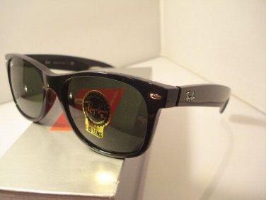 NEW RAYBAN SUNGLASSES NEW WAYFARER 2132 901L BLACK G-15 LENSES 55