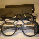 2 PAIR AUTH MONTANA VINTAGE ROUND READING GLASSES READERS BLACK & GREY 3.00