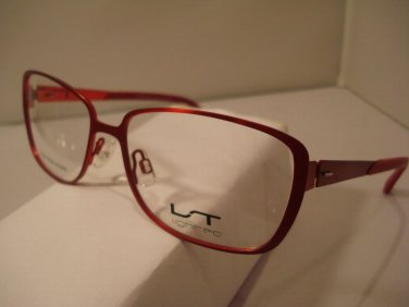 AUTH NEW LIGHTEC EYEGLASSES 7009 RED RR010 w/ CASE