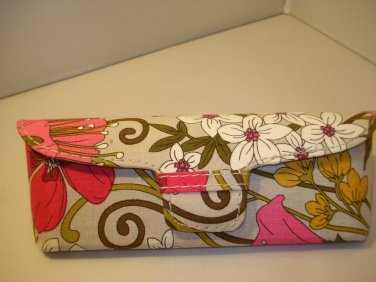 AUTH NEW VERA BRADLEY EYEGLASSES SUNGLASSES HARD CASE TEA GARDEN # 21