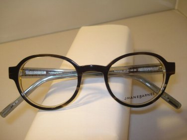 AUTH NEW JHANE BARNES EYEGLASSES ROTATION ROUND BLACK 47