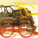 LOT 4 PAIR AUTH MONTANA DESIGNER ROUND READING GLASSES READERS ASST
