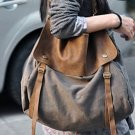 3. Canvas & Leather Bag Shoulder Bag Messenger. FREE DELIVERY