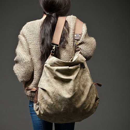 5. VINCI� Canvas leather shoulder bag. FREE DELIVERY