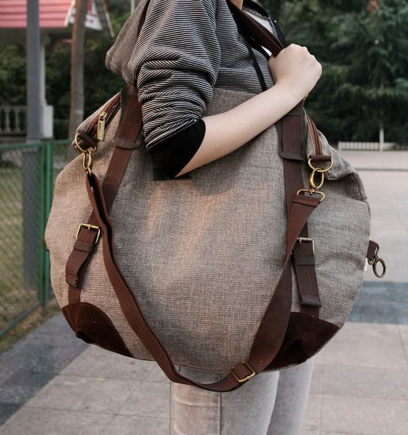 9. LARC� Canvas shoulder Bag. No leather. FREE DELIVERY