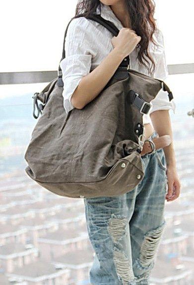 1. Canvas & Leather Bag Shoulder Bag Messenger. FREE DELIVERY