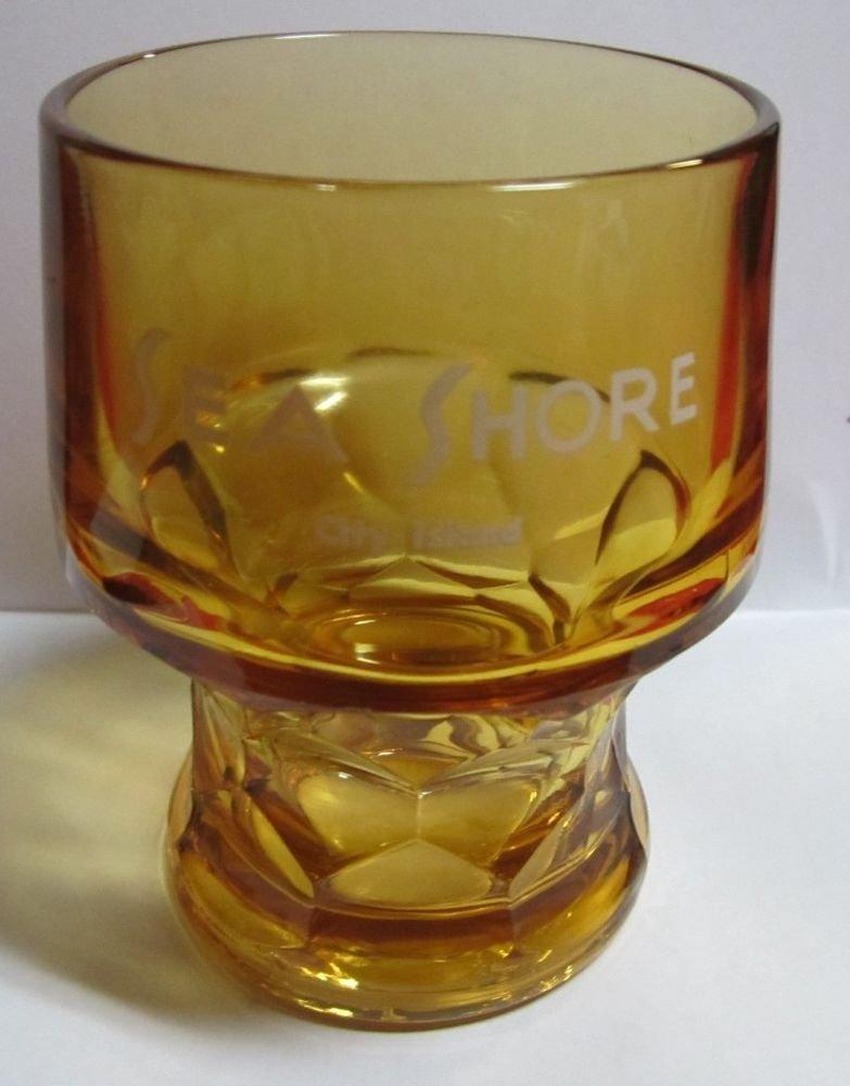 vintage Sea Shore restaurant City Island Bronx NY New York amber glass