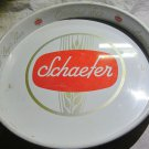 "vintage 13"" metal Schaefer Beer Tray~New York, Albany NY & Baltimore"