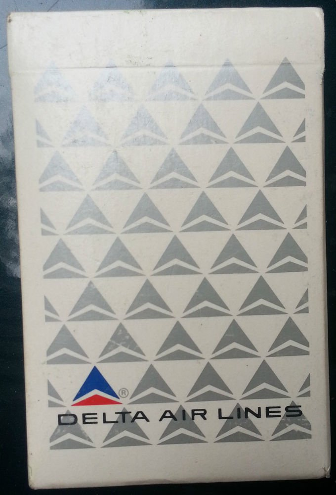 vintage Delta Airlines Playing Cards~silver on white~sealed/BRAND NEW