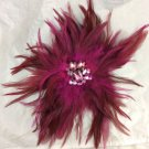 Hot Pink Fascinator Hairclip Hair Clip Pin White House Black Market New