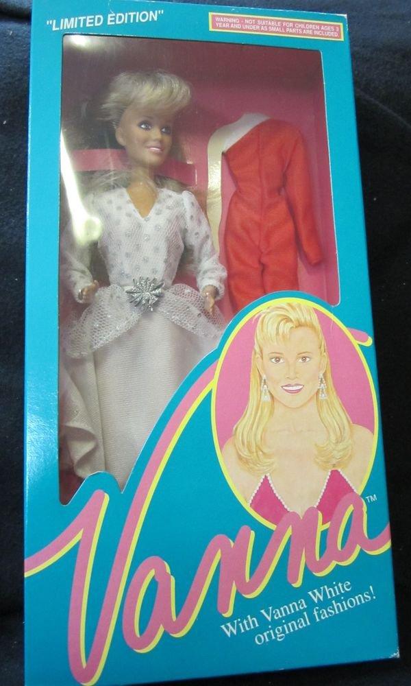"Vanna White 11.5"" doll~new in box~white & silver Dress~HSC Home Shopping Club"