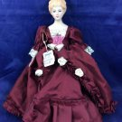 Vintage Bamberger's Department Store Porcelain Doll Red Dress 1957-1975 9 inch