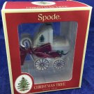 2013 Spode Baby's First Christmas Tree Ornament Carriage Stroller New in Box