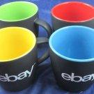 Set of 4 ebay coffee mugs San Jose company store exclusive new logo ebayana