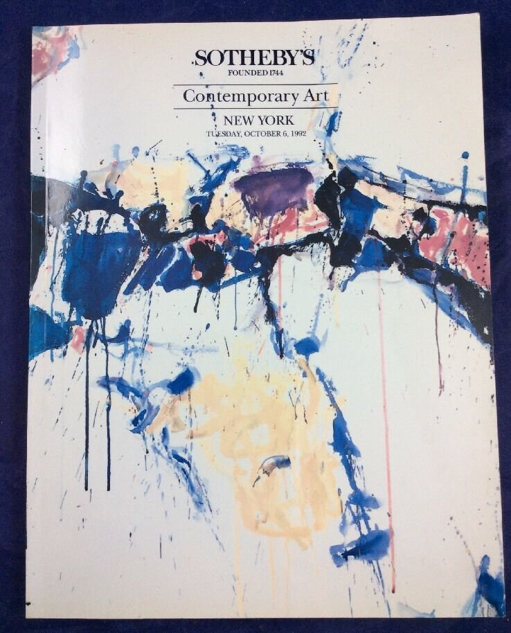 Sotheby's Contemporary Art Auction Catalogue Catalog October 6 1992 Sam Francis