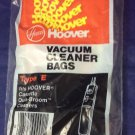 Vintage Hoover Cassette Quikbroom Quik-Broom Type E Vacuum Cleaner Bags New Bag