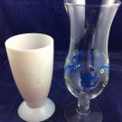 2 Royal Caribbean Cocktail Glasses Hurricane Glass & Thermal Color Changing Cup
