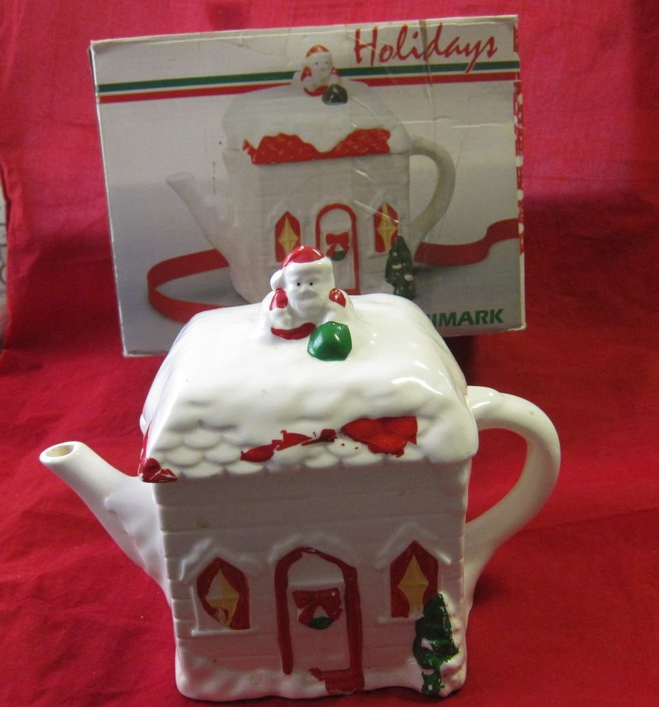 Christmas Teapot by Himark~ for coffee tea eggnog etc~in box~FREE US SHIP