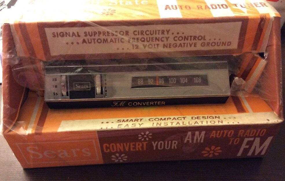Vintage Sears FM Auto Radio Tuner AM Converter 50290 Signal Suppressor Circuitry