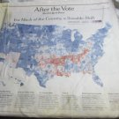 Obama wins~After the Vote section of New York Times~November 6 2008
