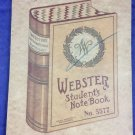 Antique Webster Student's Notebook Note Book Fred Woodley Physical Culture Notes