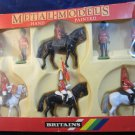 Britains Toy Soldiers 7218 box set UNIQUE COLOR VARIATION 2 white 2 black horses